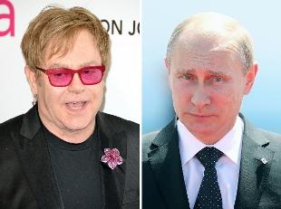 Elton John e Putin
