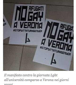 A Verona annullato convegno universitario LGBT