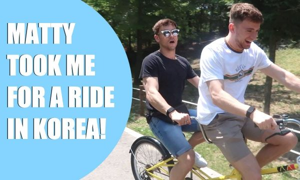 Matty Took Me For a Ride in Korea!