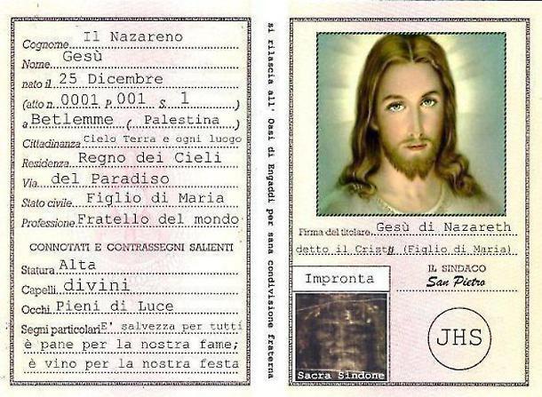 La carta d'identità del Cristo