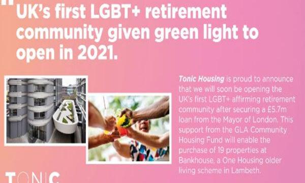 Regno Unito la prima comunità di pensionati LGBT+
