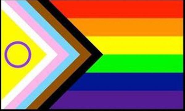 Bandiera Rainbow riprogettata per gli intersessuali
